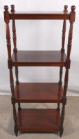 Antique Georgian Style Mahogany Tall Whatnot Stand